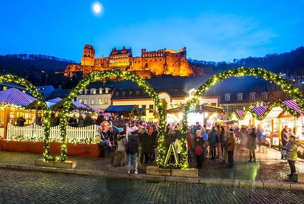 De kerstmarkten in Heidelberg en Rüdesheim staan garant voor een gezellig weekendje weg!